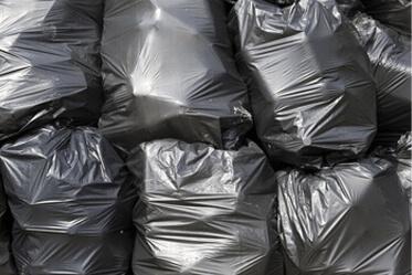 Black rubbish polythene bags