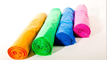 Coloured polythene bags rolls