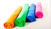 Coloured polythene bag rolls