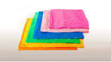 Coloured polythene bag options
