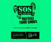 shoe recycling polythene bags