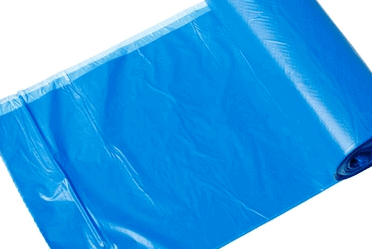 Polythene blue bag roll