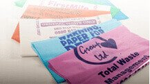 Coloured printed polythene bags for waste
