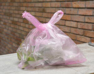 mask unwanted smells with scented poly bags