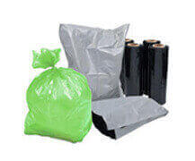 a range of poly bags and sheeting