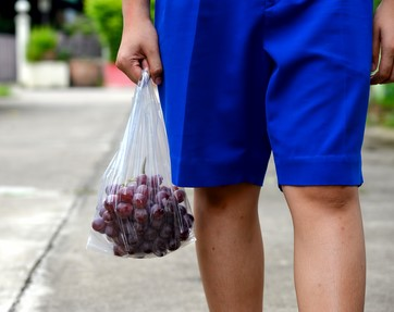fruit in polythene bag
