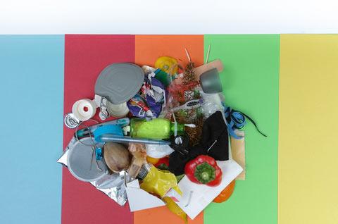 waste awaiting segregation into polythene sacks