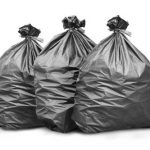 black polythene waste sacks