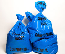 Blue Confidential Waste Bag