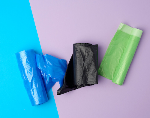 3 colours of waste sacks