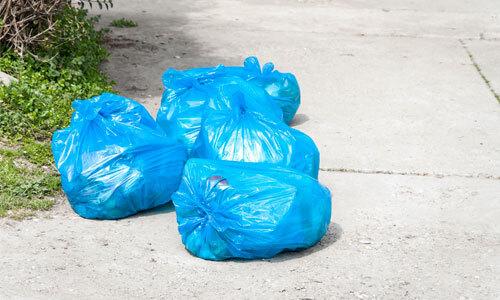 Kerbside waste bags