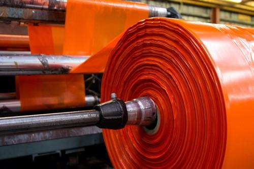 orange polythene sheeting